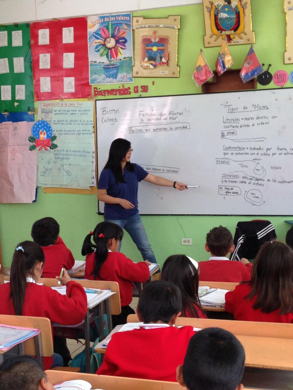Student Teacher Quito Equador